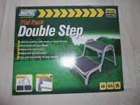 Maypole Packaway Double step ideal for caravan, motorhome or trailer tent.