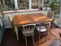 extendable pine shabby chic dining table