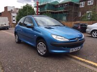 Peugeot 206 1.4 petrol ( THE CAR BASED IN LUTON )