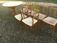 Strongbow Dark Wood Extendable Dining Table and Six Chairs