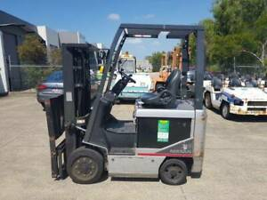 F3592: NISSAN ELECTRIC CONTAINER MAST FORKLIFT Geebung Brisbane North East Preview