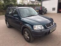 Bargain 4x4 to clear Honda CRV 2.0 Vtec metallic green ,mot june, great tyres and brakes, be quick
