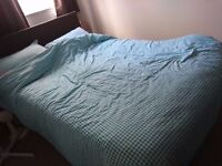 Double bed with 2 draws at fron't , head rest and Mattress