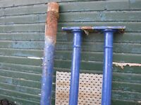 Cast iron columns, 3 No, 2410mm, 2135mm, 2135mm, salvaged