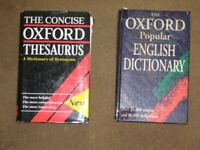2 Vintage Hardback Oxford Dictionaries - Please see advert description for details and prices