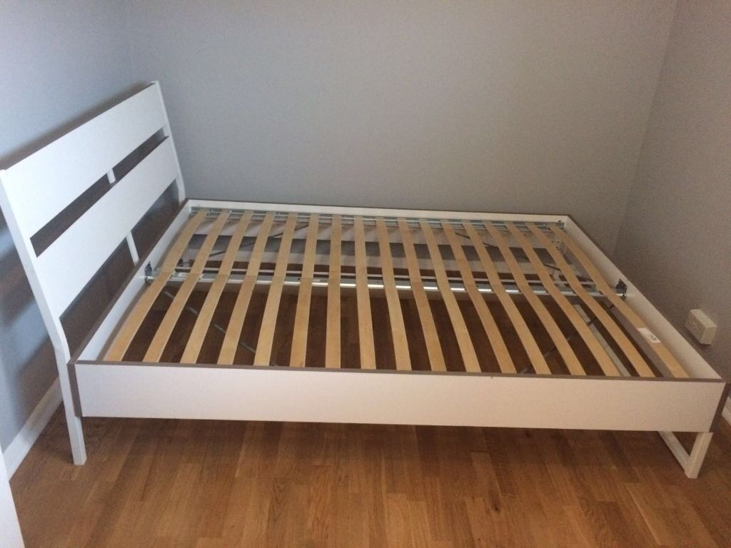 ikea trysil white double bed frame in kensington london gumtree. Black Bedroom Furniture Sets. Home Design Ideas