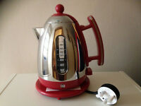 New Dualit Steel Jug Kettle 1.5L Red