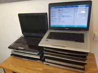Job Lot Laptops x11. All Power on with Memory. Cheap Lot to Clear