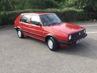 VW GOLF MK2 1.3, 1988, 4 OWNERS FROM NEW, LOW MILES, FULL SERVICE HISTORY, NEW MOT