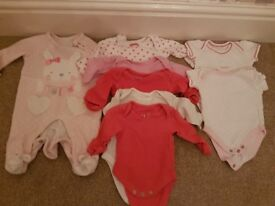 Up to 1 month baby clothes. Mainly from Marks and Spencers M&S