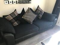 3 Piece Suite- DFS 4 seater sofa, cuddle sofa & footstool