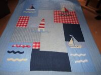 LAURA ASHLEY BEDSPREAD/THROW. 5ft x 6ft 8ins.