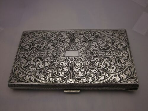 VINTAGE HIGH QUALITY,  STERLING (800 fine) SILVER CIGARETTE CASE....GIFT QUALITY