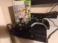 Xbox console plus 23 games, Kinect and 2 wireless controllers