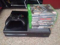 Xbox one, controller, 10 games! Ex con