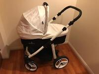 Venicci travel system (car seat, carry cot and toddler pram). Used for 3 months
