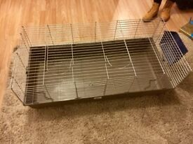 FOR SALE- Large Rabbit Cage & Hay Rack