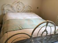 Cream Steel French Style Double Bed Frame
