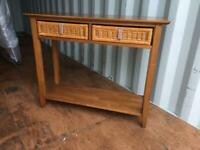 NEXT Console table with wicker drawers