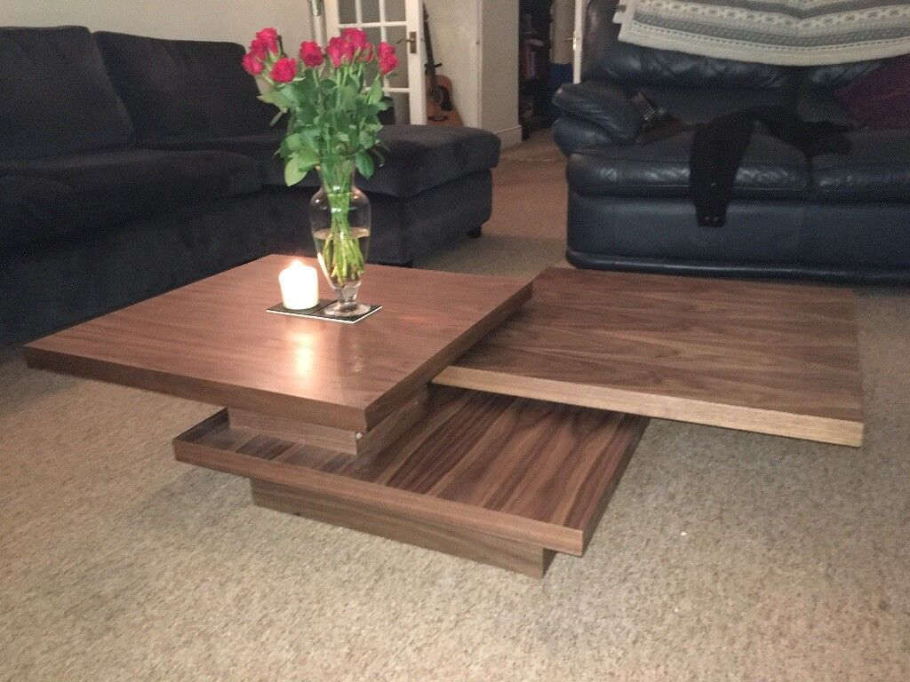 Dwell Rotate Square Coffee Table In Walnut In Clifton Village Bristol Gumtree