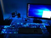 PC with Glass Table 2 x Xeon 5660 32GB DDR3 24 core