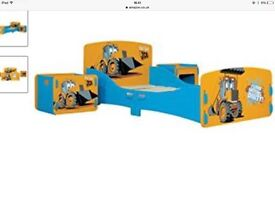 New JCB Toddler Bed with Bedside Tables and Mattress