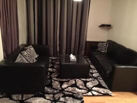 Lather sofa 2 seater +5 seater + table
