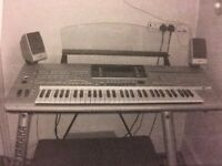 Yamaha Tyros 4 Electric Organ - independent speakers, seat and other accessories included