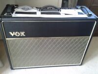 """Vox AC30 CC2 2x12"""" Combo Amplifier Hardly used as new"""