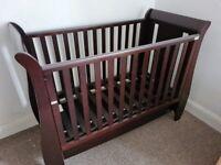 Mahogany Sleigh Cot Bed