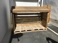 Large wood storage shed