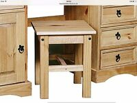 CORONA DOUBLE DRESSING TABLE WITH STOOL