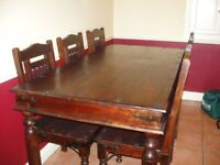 Dining Table and 6 Chairs - Solid Wood