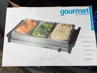 Gourmet Triple Buffet Server / Food Warmer