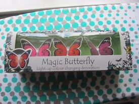 Debenhams Set of three magic butterfly lights (NEW)