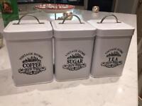 tea/coffee/sugar canisters/jars
