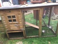 Small chicken coop/run/house