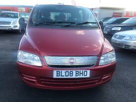£ 2800 2008 (08 reg), MPV 6 seats,Fiat Multipla 1.9 MultiJet Eleganza 5dr diesal red