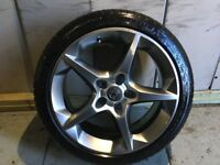 ALLOYS X 4 OF 18 INCH GENUINE VAUXHALL ASTRA PENTA FULLY POWDERCOATED IN STUNNING SHADOW/CHROME NICE