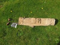 Vintage Golf Bag with Clubs