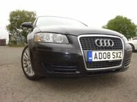 08 AUDI A3 2.0 SE TDI DIESEL,MOT JULY 019,3 OWNER FROM NEW,PART SERVICE HISTORY,2 KEY,STUNNING CAR