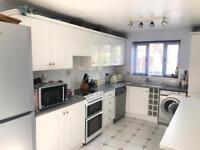 Kitchen units, cupboard doors, worktops, extractor fan, sink & tap.