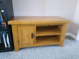 Small Oak TV Unit