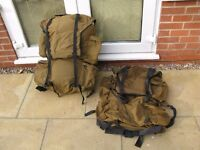 Rucksacs ideal for carrying your kit to the water side