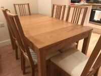Ikea Bjursta Extending Table with 6 chairs