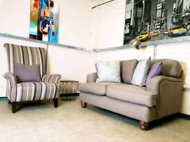 Hobbs 2 seater sofa in mole grey blended wool fabric