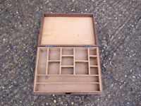 Old Wooden Tool and Storage Box
