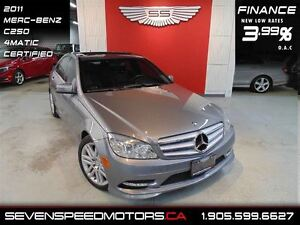 2011 Mercedes-Benz C-Class C250 4MATIC|$132 BW ALL IN|1YR FREE W