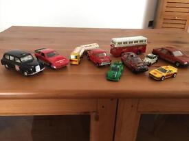 Corgi cars.