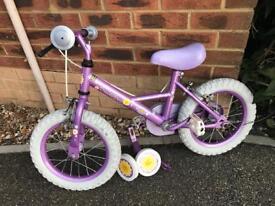 "Girls ""Sweetbea Apollo"" bike with stabilisers"